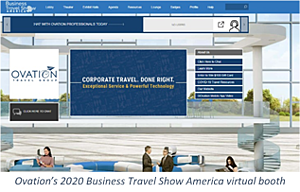 Ovation's 2020 Business Travel Show America virtual booth